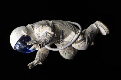 Posters astronaute sur fond noir