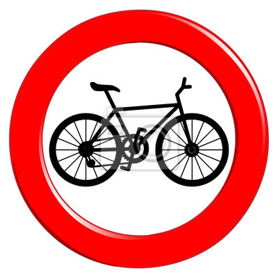 Posters Aucun signe de bicyclette