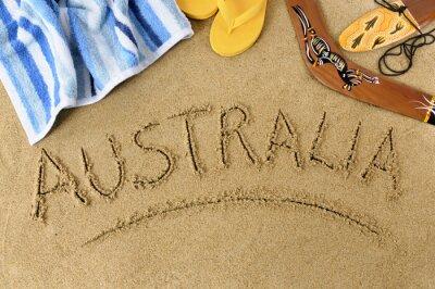Posters Australie fond de plage