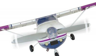 Posters Avant, Cessna, 172, unique, hélice, avion, blanc