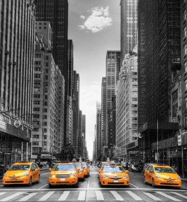 Posters Avenue Avec des taxis à New York.