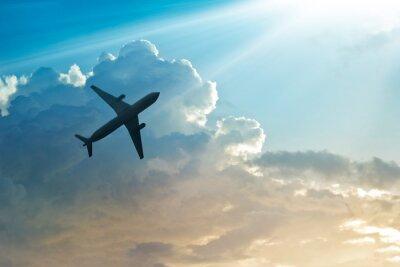 Posters Avion, ciel, nuage, lever soleil