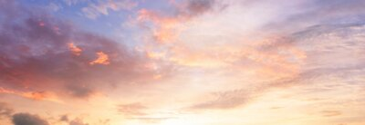 Posters Background of colorful sky concept: Dramatic sunset with twilight color sky and clouds