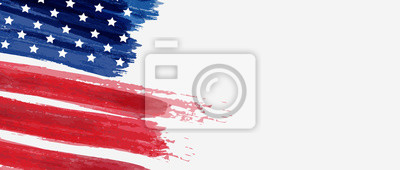 Posters Background with USA painted flag