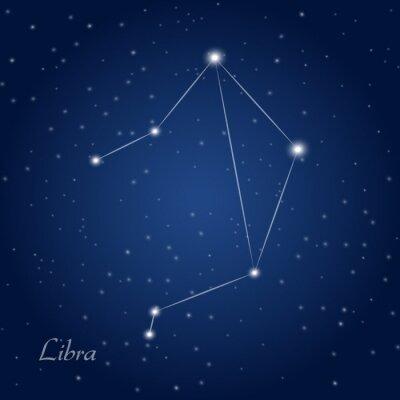 Posters Balance signe constellation du zodiaque au ciel étoilé