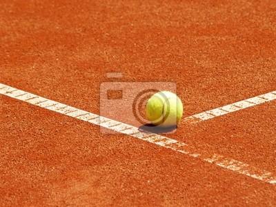 balle de tennis auf der T-Linie 10