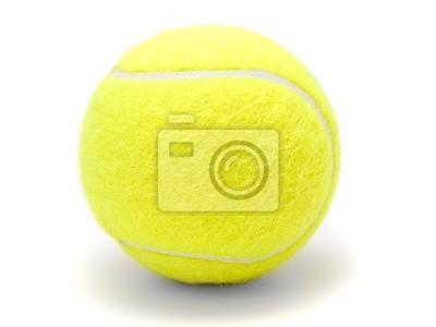 Balle de tennis isolé sur fond blanc.