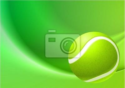 Balle de tennis sur fond abstrait Internet