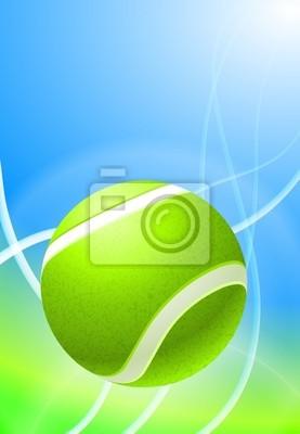 Balle de tennis sur fond de