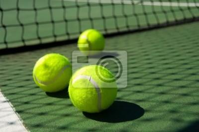 Balles de tennis sur Cour