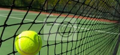 balles de tennis sur le court