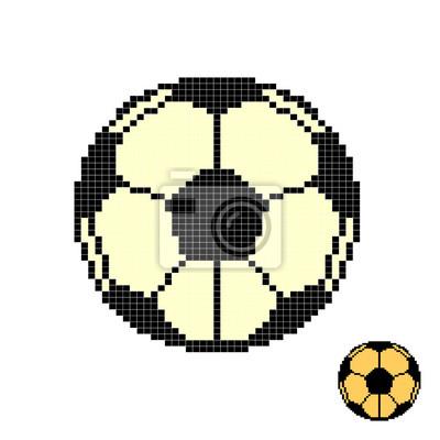 Posters Ballon De Football Pixel Art Football Pixélisé Isolé Sur Fond