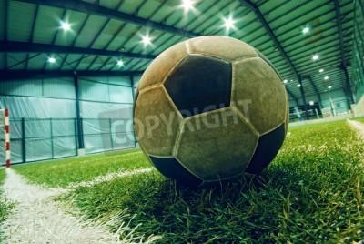 Posters ballon de football sur herbe verte dans le Indoor Playground