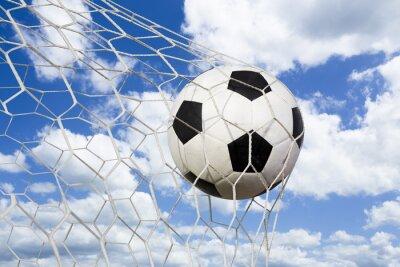 Posters Ballon de soccer dans le filet de but