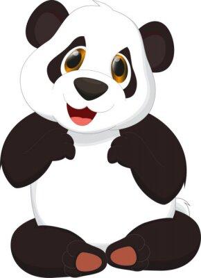 Posters bande dessinée mignonne de panda