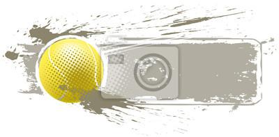 bannière de balle de tennis