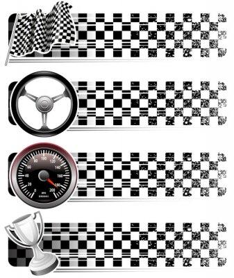 bannières de course automobile