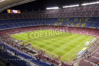 Posters BARCELONA - DECEMBER 16: View of Camp Nou stadium before the Spanish League match between FC Barcelona and Atletico de Madrid, final score 4 - 1, on December 16, 2012, in Barcelona, Spain