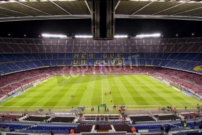 Posters BARCELONE - Décembre 16: Vue de stade Camp Nou avant le match Ligue espagnole entre le FC Barcelone et l'Atletico de Madrid, score final 4 - 1, le 16 Décembre 2012, à Barcelone, Espagne