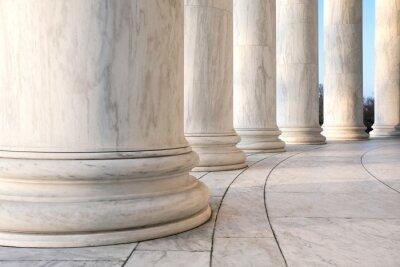 Posters Base colonnes ioniques au Jefferson Memorial à Washington DC