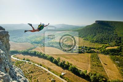 Posters base jumper saute de la falaise
