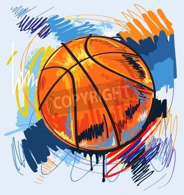 Posters Basket-ball, conception, couleur, fond
