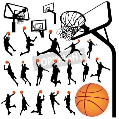 Posters basket-ball et le vecteur panneau