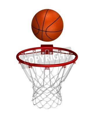 Posters Basket ball over the ring