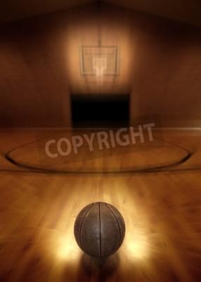 Posters Basket-ball sur le plancher de basket vide