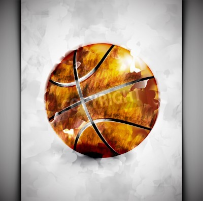 Posters Basketball ball in watercolor style