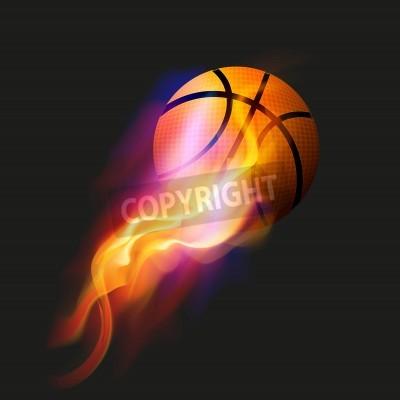 Posters Basketball Fire Ball
