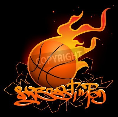 Posters Basketball graffiti image