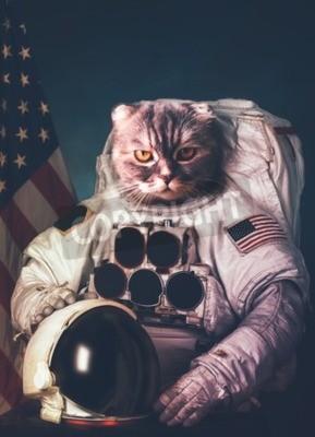 Posters Beau astronaute de chat.