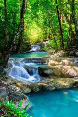 Posters Beau, chute eau, Thaïlande, exotique, forêt