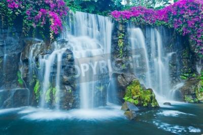 Posters Beautiful Blue Waterfall in Hawaii