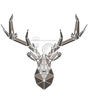 Posters Beautiful deer geometric triangle shape design