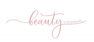 Posters Beauty is our profession - the slogan for a beauty salon, hand calligraphy.