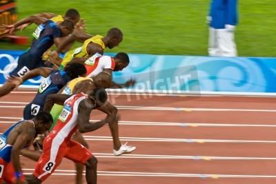 Posters Beijing, China Aug. 18 2008, Olympics, 100 meter sprint, Start of men