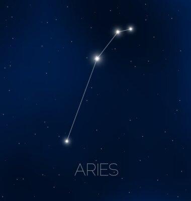 Posters Bélier constellation dans le ciel nocturne