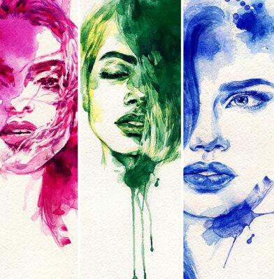 Posters Belle femme. illustration d'aquarelle