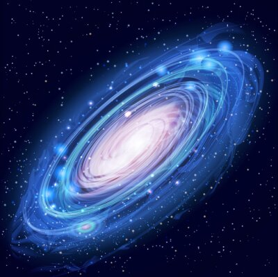 Posters Belle Glowing Vector galaxie d'Andromède