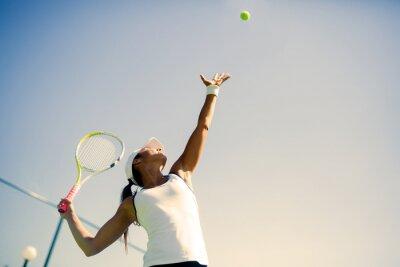 Posters Belle joueuse de tennis portion