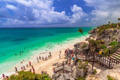 Posters Belle plage de Tulum au Mexique