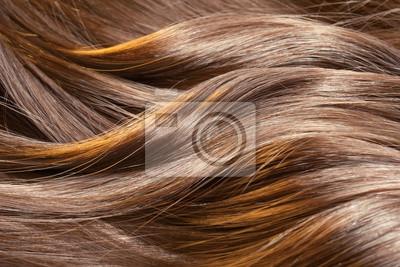 Posters Belle texture des cheveux sains et brillants avec des stries en surbrillance