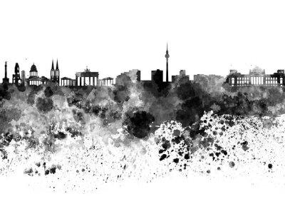 Posters Berlin, Horizon, noir, aquarelle