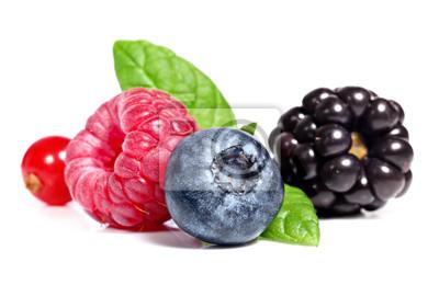 Berry fruits sur un fond blanc