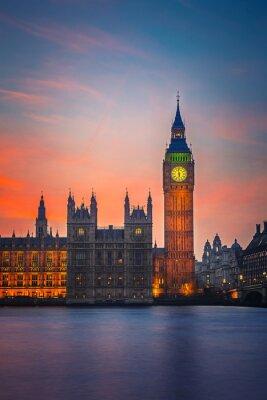 Posters Big Ben et les Chambres du Parlement, Londres