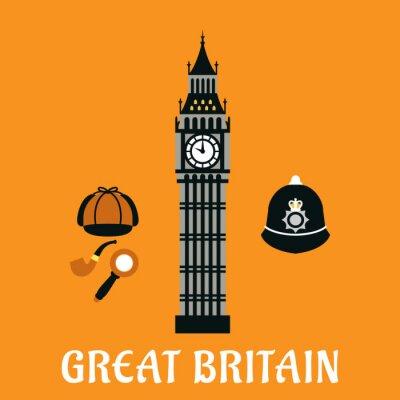 Posters Big Ben tour et d'autres objets bretagne