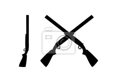 Posters Black Shotguns Cross Illustration Logo Silhouette
