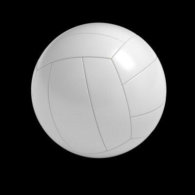 Posters Blank ballon de volley-ball isolé avec chemin de détourage